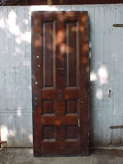 184 - 6-Panel Antique Wood Door - Old House Parts Company: Architectural Salvage, Antique Windows And