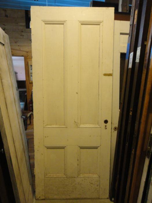 203   Antique 4 Panel Exterior Door